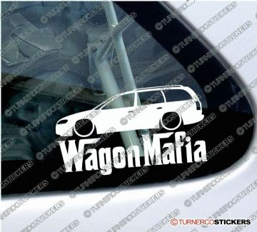 "LOW Vauxhall / Opel Omega B estate Kombi "" Wagon Mafia "" Lowered car outline stickers"
